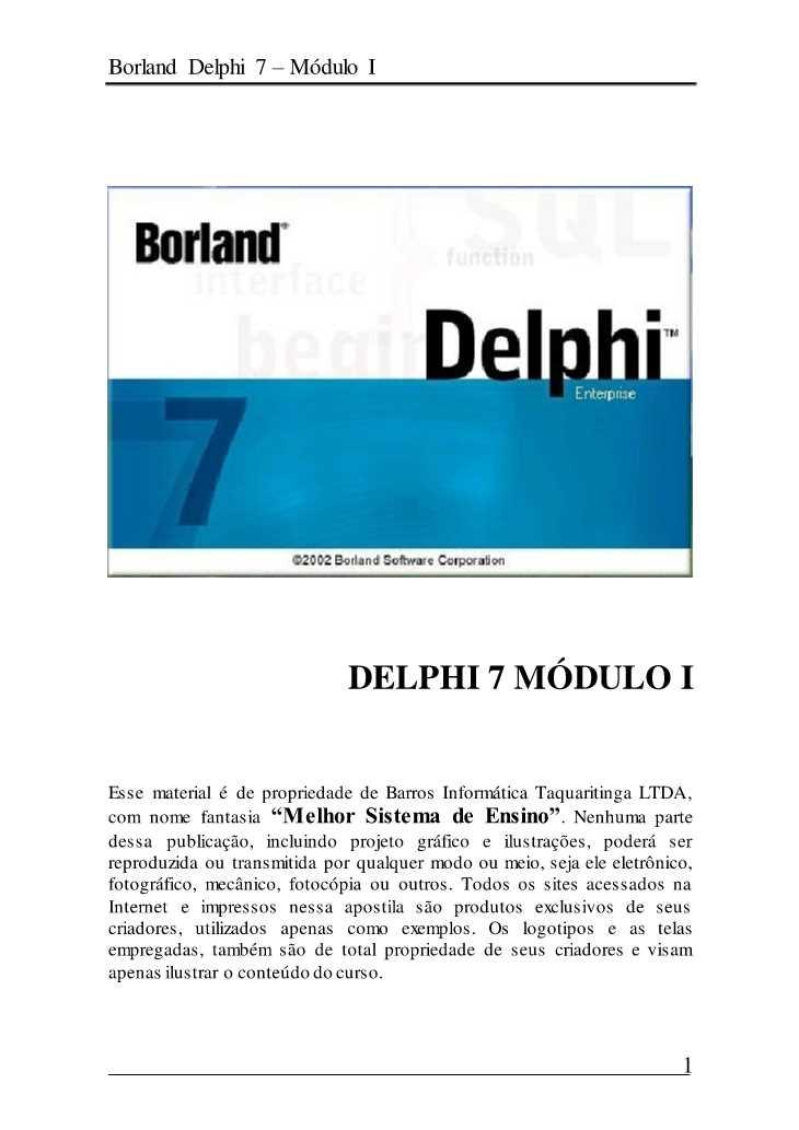 apostilas de delphi 7
